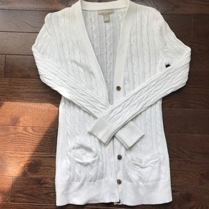 Banana Republic XS off white cable knit cardigan